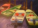 Suzanne Therrien, Au quai, acrylique