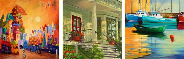Suzanne Therrien, Entre lune et étoiles, Rue du Québec, Port de Northwest Cove