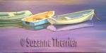 Suzanne Therrien, Barques, acrylique, 15 x 30 po