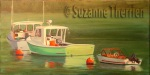 Suzanne Therrien, Boothbay Harbour, acrylique, 12 x 24 po