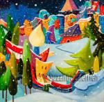 Suzanne Therrien, Plaisirs d'hiver, acrylique, 30 x 30 po., 2175 $