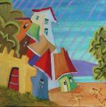 Suzanne Therrien, La plage, 6 x 6 po, 330 $