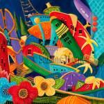 Suzanne Therrien, Le grand fatras, 18 x 18 po, 875 $