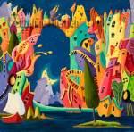 Suzanne Therrien, L'Ile des pirates, 18 x 18, 875 $