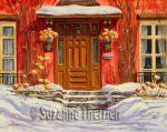 Suzanne Therrien, La maison aux étoiles, acrylique, 16 x 20 po