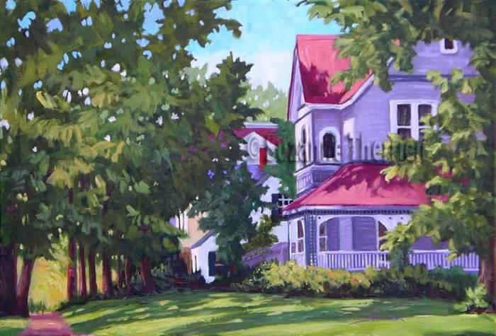 Suzanne Therrien, La maison grise, acrylique, 16 x 24 po