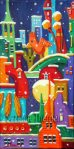 Suzanne Therrien, Passer l'hiver en ville, acrylique, 12 x 6 po.