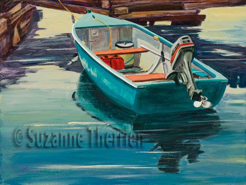 Suzanne Therrien, Quai de Bush Island. N.E., acrylique, 18 x 24 po