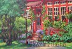 Suzanne Therrien, Rouge comme les fraises, acrylique, Rouge comme les fraises,