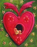 Suzanne Therrien, Souris mon coeur, acrylique, 10 x 8 po.