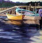 Suzanne Therrien, Au quai, Lunenburg, acrylique