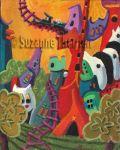Suzanne Therrien, Tchou-tchou, acrylique, 9 x 7 po