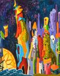 Suzanne Therrien, La fête du lac, 30 x 24 po, 1760 $
