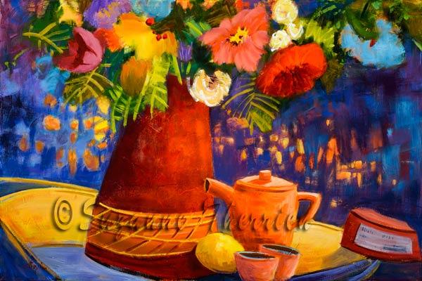 Suzanne Therrien, Thé citron, 18 x 27 po, 1250 $