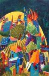 Suzanne Therrien, Lune jaune, 30 x 24, 1760 $