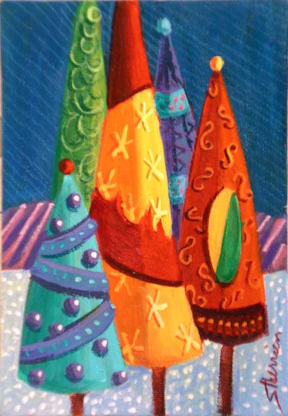 Suzanne Therrien, Quintette, 7 x 5, 170$