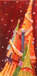 Suzanne Therrien, Mes beaux sapins, techniques mixtes, 12 x 6 , 375 $