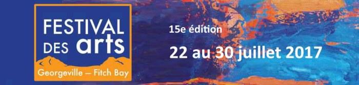 Bannière du Festival des arts Georgeville-Fitch bay